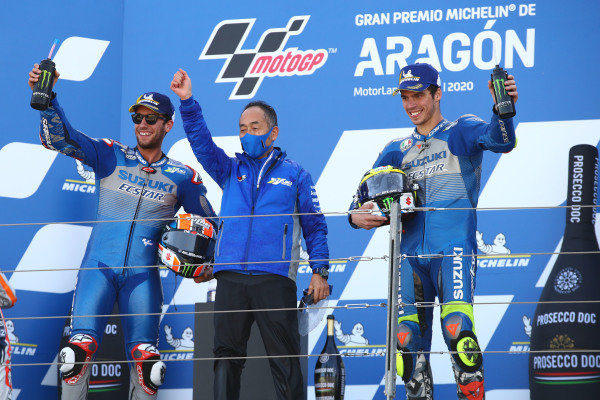 Alex Rins, Team Suzuki MotoGP, Ken Kawauchi, Joan Mir, Team Suzuki MotoGP.