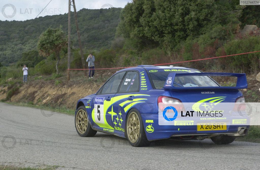 2001 World Rally Championship.Rallye de France, Ajaccio, Corsica, October 19-21.Richard Burns on stage 13.Photo: Ralph Hardwick/LAT