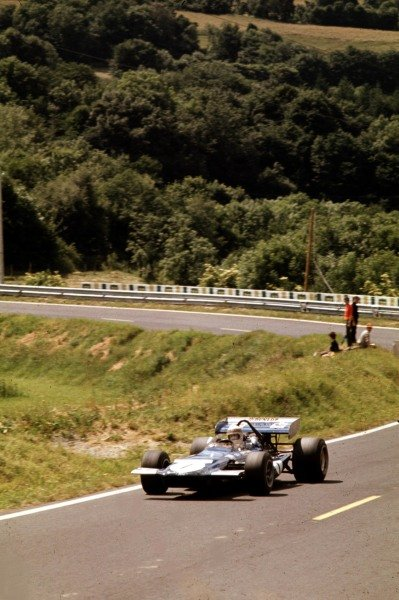 1970 French Grand Prix.Clermont-Ferrand, France.3-5 July 1970.Jackie Stewart (March 701 Ford) 9th position.Ref-70 FRA 38.World Copyright - LAT Photographic