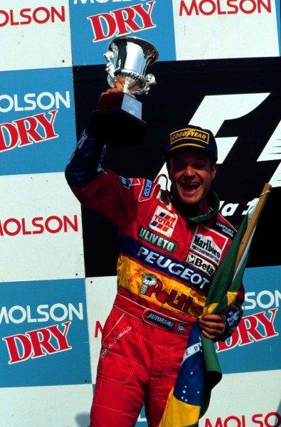 1995 Canadian Grand Prix.Montreal, Quebec, Canada.9-11 June 1995.Rubens Barrichello (Jordan Peugeot) 2nd position.World Copyright - LAT Photographic