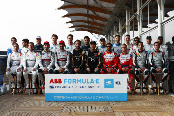 The drivers pose for a photo