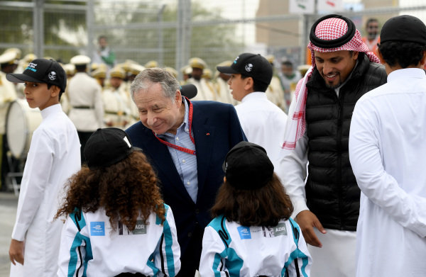 Jean Todt, FIA President, meets the grid kids