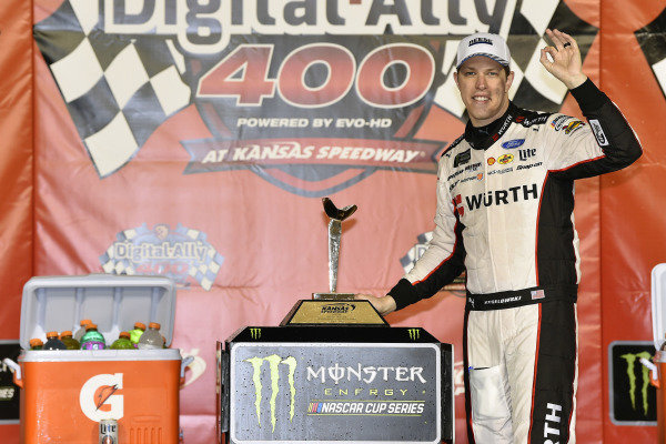 #2: Brad Keselowski, Team Penske, Ford Mustang Wurth  celeberates hits win in Victory Lane