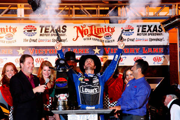 2-4 November, 2012, Fort Worth, Texas USA Jimmie Johnson celebrates in victory lane with pistols.(c)2012, Lesley Ann Miller LAT Photo USA