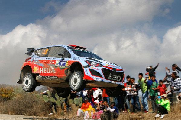 Dani Sordo (ESP) / Marc Marti (ESP) Hyundai i20 WRC at World Rally Championship, Rd3, Rally Mexico, Day Three, Leon, Mexico, 8 March 2015.
