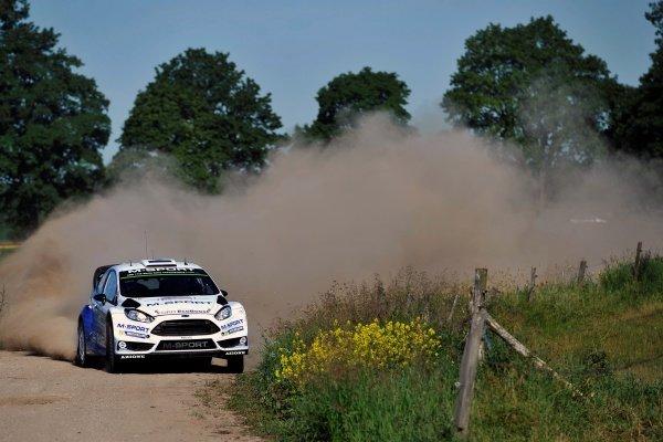 Ott Tanak (EST) / Raigo Molder (EST) Ford Fiesta RS WRC at FIA World Rally Championship, Rd7, Lotos 71st Rally Poland, Day One, Mikolajki, Poland, Friday 3 July 2015.