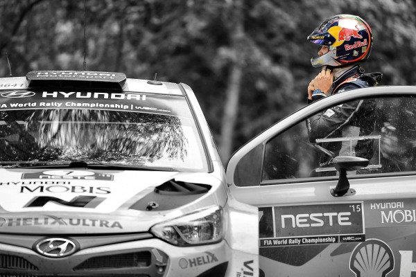Thierry Neuville (BEL) Hyundai i20 WRC at FIA World Rally Championship, R8, Neste Oil Rally Finland, Day One, Jyvaskyla, Finland, Friday 31 July 2015.