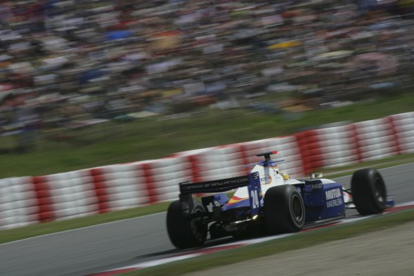 2007 GP2 Series. Round 2. Sunday RaceBarcelona, Spain. 13th May 2007. Giorgio Pantano (ITA, Campos Grand Prix). Action. World Copyright: Andrew Ferraro/GP2 Series Media Sevice  ref: Digital Image ZP9O7095