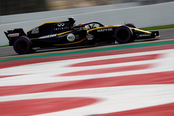 Circuit de Catalunya, Barcelona, Spain. Friday 09 March 2018. Carlos Sainz Jr., Renault Sport F1 Team R.S. 18. World Copyright: Glenn Dunbar/LAT Images ref: Digital Image _X4I2046