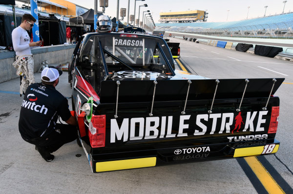 NASCAR Camping World Truck Series Ford EcoBoost 200 Homestead-Miami Speedway, Homestead, FL USA Friday 17 November 2017 Noah Gragson, Switch Toyota Tundra World Copyright: Nigel Kinrade LAT Images