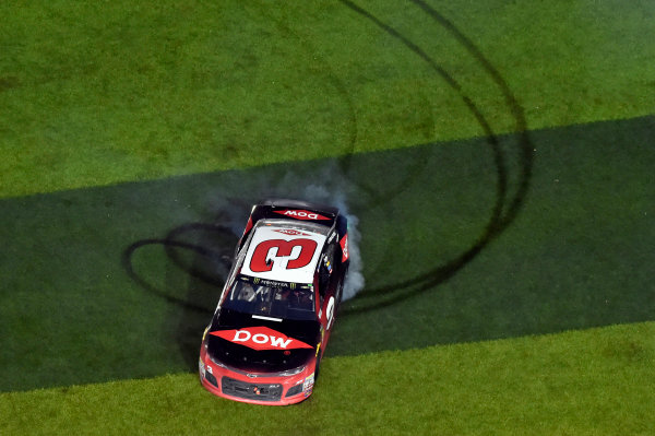Monster Energy NASCAR Cup Series Daytona 500 Daytona International Speedway, Daytona Beach, FL USA Sunday 18 February 2018 Austin Dillon, Richard Childress Racing, Dow Chevrolet Camaro celebrates his win World Copyright: Nigel Kinrade LAT Images