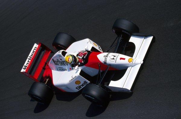 Race winner Ayrton Senna (BRA) McLaren MP4/7A. Italian Grand Prix, Rd 13, Monza, Italy, 13 September 1992.