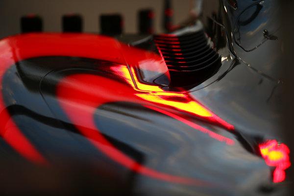 Yas Marina Circuit, Abu Dhabi, United Arab Emirates. Thursday 26 November 2015. Body work of the McLaren MP4-30 Honda. World Copyright: Charles Coates/LAT Photographic ref: Digital Image DXI26503