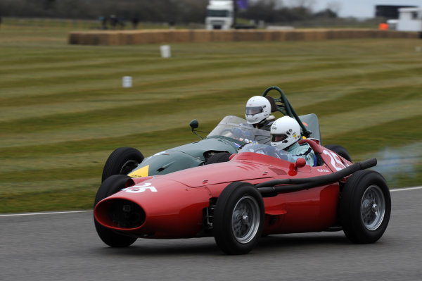 2016 74th Members Meeting Goodwood Estate, West Sussex,England 19th - 20th March 2016 Race 3 Brooks Trophy Mark Hales Ferrari  World Copyright : Jeff Bloxham/LAT Photographic Ref : Digital Image