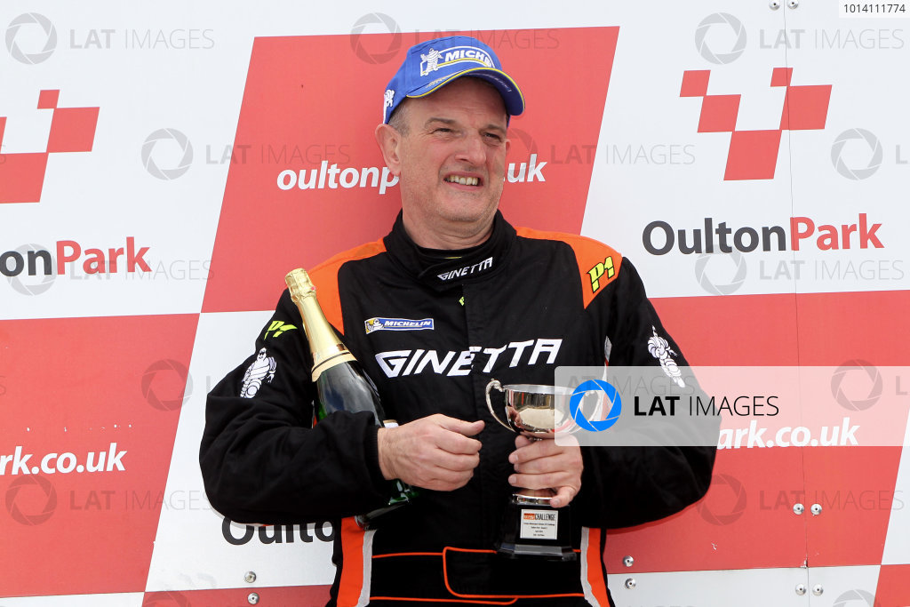 2014 Protyre Motorsport Ginetta GT5 Challenge, Oulton Park, Cheshire. 19th April 2014. David Pattison (GBR) Tolman Motorsport Ginetta G20. World Copyright: Ebrey / LAT Photographic.
