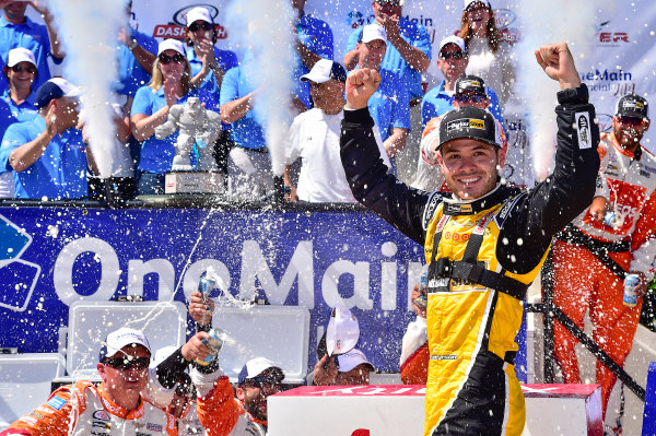 NASCAR XFINITY Series One Main Financial 200 Dover International Speedway, Dover, DE USA Saturday 3 June 2017 Kyle Larson, ParkerStore Chevrolet Camaro, celebrates in Victory Lane. World Copyright: John K Harrelson LAT Images ref: Digital Image 17DOV1jh_05164