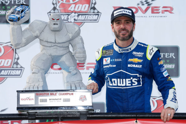 Monster Energy NASCAR Cup Series AAA 400 Drive for Autism Dover International Speedway, Dover, DE USA Sunday 4 June 2017 Jimmie Johnson, Hendrick Motorsports, Lowe's Chevrolet SS World Copyright: Matthew T. Thacker LAT Images ref: Digital Image 17DOV1mt1943