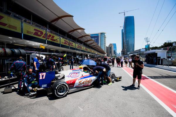 2017 FIA Formula 2 Round 4. Baku City Circuit, Baku, Azerbaijan. Saturday 24 June 2017. Sergio Canamasas (ESP, Trident)  Photo: Zak Mauger/FIA Formula 2. ref: Digital Image _54I1051