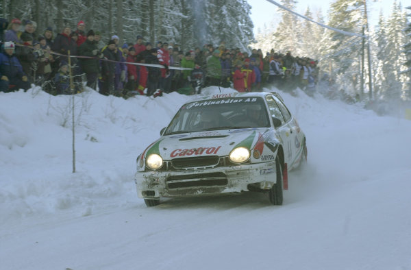 2001 World Rally Championship.   Swedish Rally. 9th - 11th February 2001. Rd 2. Daniel Carlsson brought his skill to the attention of many people, finishing strongly in 7th place. World Copyright: Ralph Hardwick/ LAT Photographic. Ref: Carlsson4