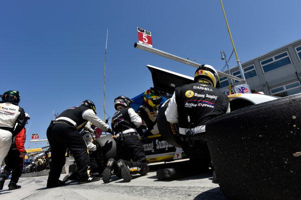 1-3 May, 2015, Monterey, California, USA 5, Chevrolet, Corvette DP, P, Joao Barbosa, Christian Fittipaldi, pit stop ?2015 Scott R LePage  LAT Photo USA