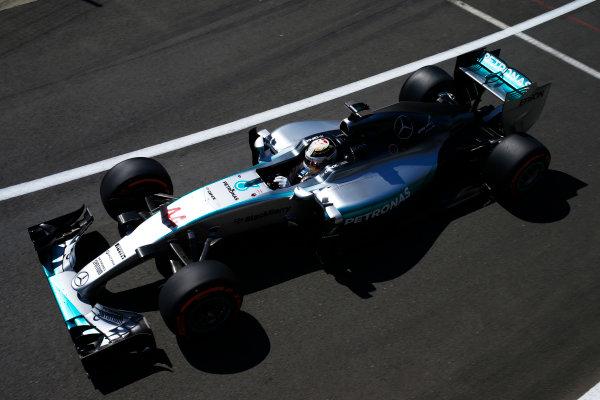 Silverstone, Northamptonshire, England. Friday 03 July 2015. Lewis Hamilton, Mercedes F1 W06 Hybrid. World Copyright: Glenn Dunbar/LAT Photographic. ref: Digital Image _89P0591