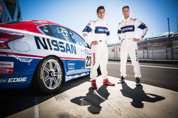 2016 Supercars Championship Round 11.  Bathurst 1000, Mount Panorama, Bathurst, New South Wales, Australia. Wednesday 5th October to Sunday 9th October 2016. Michael Caruso and Dean Fiore driver's of the #23 Nissan Motorsport Nissan Altima. World Copyright: Daniel Kalisz/LAT Photographic Ref: Digital Image 051016_VASCR11_BATHURST1000_DKIMG_0570.JPG