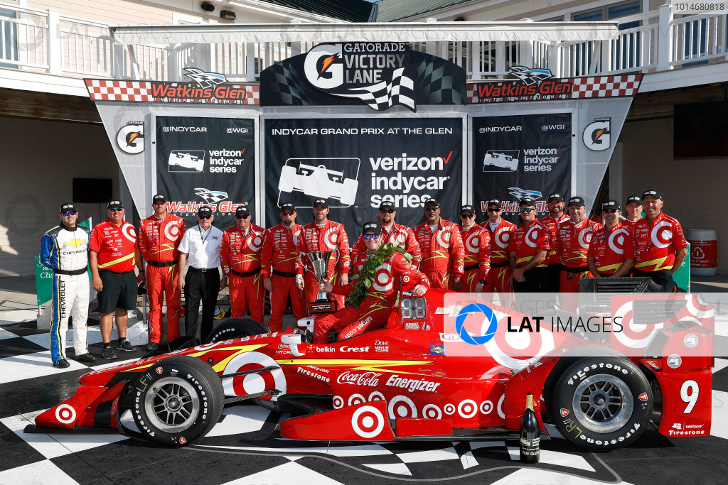 2-4 September, 2016, Watkins Glen, New York,  USA Scott Dixon, team, podium ?2016, Michael L. Levitt LAT Photo USA