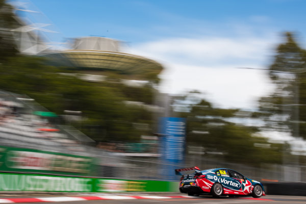 2016 Supercars Championship Round 14.  Sydney 500, Homebush Street Circuit, New South Wales, Australia. Friday 2nd December to Sunday 4th December 2016. Craig Lowndes drives the #888 TeamVortex Holden Commodore VF. World Copyright: Daniel Kalisz/LAT Photographic Ref: Digital Image 021216_VASCR14_DKIMG_1696.JPG