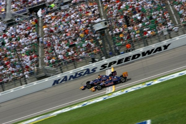 Red Bull Cheever Racing team mates Patrick Carpentier (CAN) and Alex Barron (USA) race in the Argent Mortgage 300.