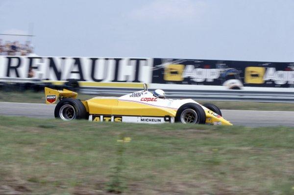 1982 Dutch Grand Prix Zandvoort, Holland. 1-3 July 1982 Manfred Winkelhock (ATS D5-Ford Cosworth), 12th position World Copyright: LAT PhotographicRef: 35mm transparency 82HOL20