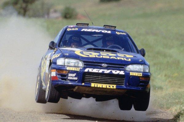 1994 World Rally Championship.Acropolis Rally, Greece. 29-31 May 1994.Carlos Sainz/Luis Moya (Subaru Impreza 555), 1st position.World Copyright: LAT PhotographicRef: 35mm transparency 94RALLY05