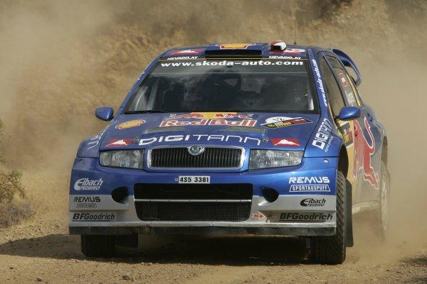 2006 FIA World Rally Champs. Round twelveCyprus Rally.21st - 24th September 2006.PAndreas Aigner, Skoda, action.World Copyright: McKlein/LAT