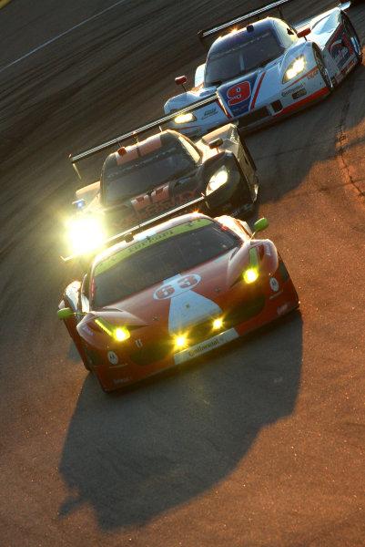 16-17 August, 2013, Kansas City, Kansas USA The #63 Ferrari of Aessandro Balzan and Leh Keen is shown in action. ©2013, R.D. Ethan LAT Photo USA