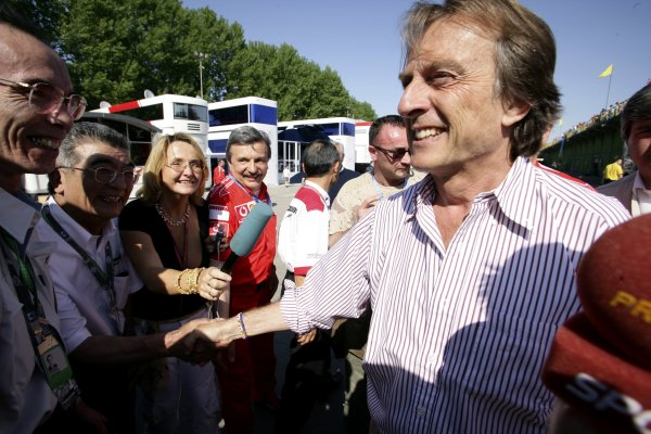 2006 San Marino Grand Prix - Sunday Race Imola, Italy. 20th - 23rd April 2006 Luca di Montezemolo celebrates, celebration, portrait. World Copyright: Charles Coates/LAT Photographic ref: Digital Image ZK5Y0487