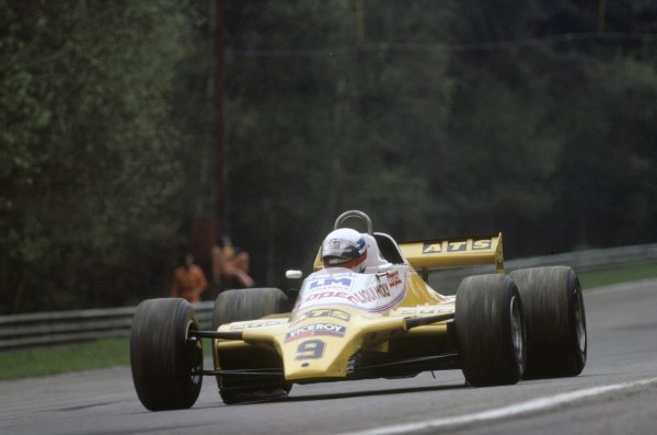1982 Belgian Grand Prix.Zolder, Belgium. 7-9 May 1982.Manfred Winkelhock (ATS D5-Ford Cosworth), retired.World Copyright: LAT PhotographicRef: 35mm transparency 82BEL37