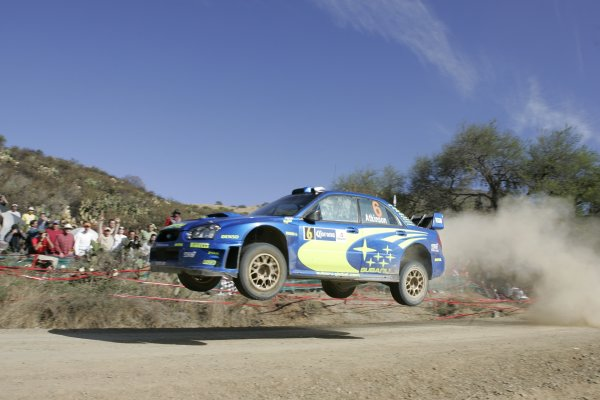 2005 FIA World Rally Championship Round 3, Mexico Rally. 10th - 13th March 2005. Chris Atkinson,(Subaru Impreza WRC), retired, action. World Copyright: McKlein/LAT Photographic. ref: Digital Image Only.