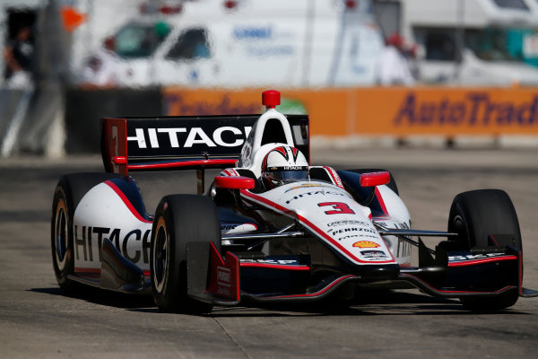 1 June, 2014, Detroit, Michigan, USA Helio Castroneves ©2014, Michael L. Levitt LAT Photo USA