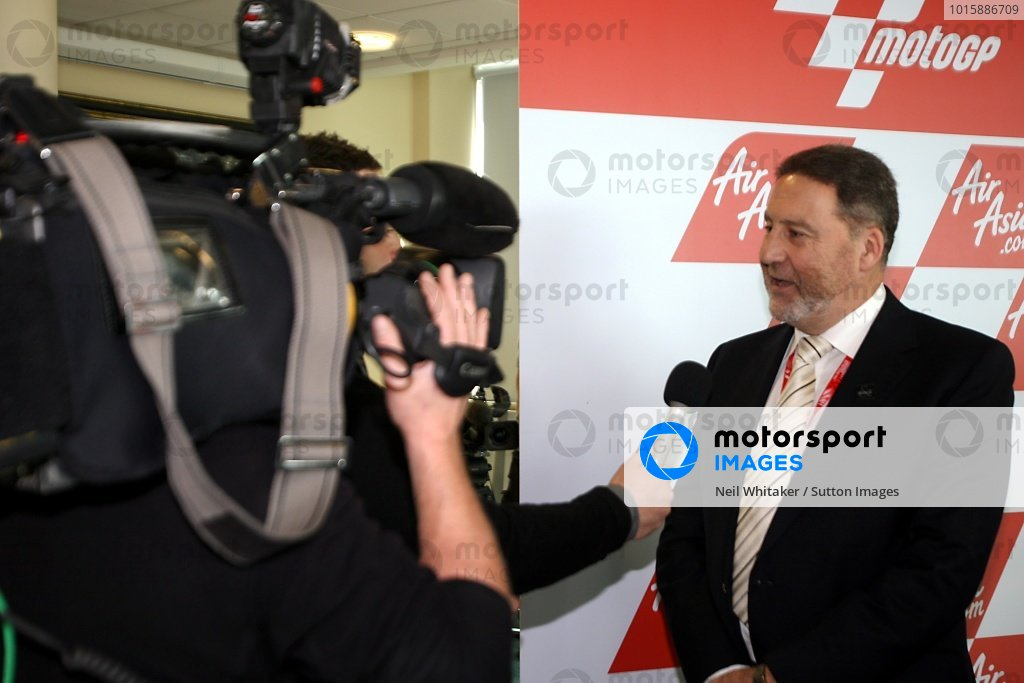 Richard Phillips (GBR), Managing Director Silverstone Circuit, is interviewed.AirAsia Signs As Title Sponsor for 2010 MotoGP British Grand Prix, Silverstone, England, Wednesday 10 February 2010.