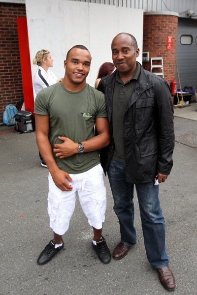L-R: Nicolas Hamilton (GBR) with his father Anthony Hamilton (GBR).