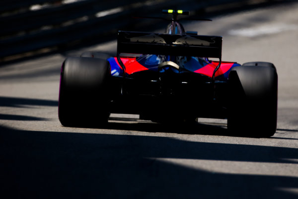 Monte Carlo, Monaco. Saturday 27 May 2017. Carlos Sainz Jr, Toro Rosso STR12 Renault. World Copyright: Charles Coates/LAT Images ref: Digital Image AN7T7321