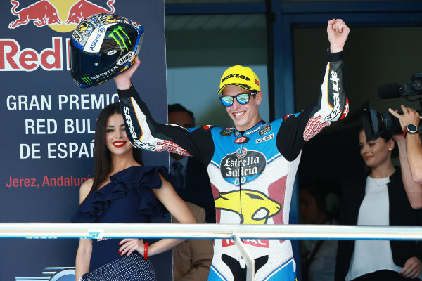 2017 Moto2 Championship - Round 4 Jerez, Spain Sunday 7 May 2017 Podium: race winner Alex Marquez, Marc VDS World Copyright: Gold & Goose Photography/LAT Images ref: Digital Image 668731