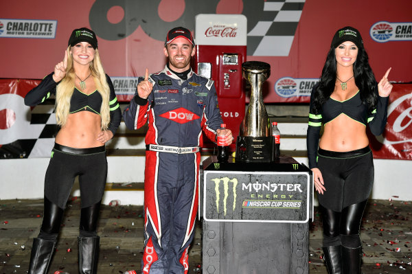 Monster Energy NASCAR Cup Series Coca-Cola 600 Charlotte Motor Speedway, Concord, NC USA Monday 29 May 2017 Austin Dillon, Richard Childress Racing, Dow Salutes Veterans Chevrolet SS celebrates his win in Victory Lane World Copyright: Nigel Kinrade LAT Images ref: Digital Image 17CLT2nk10576