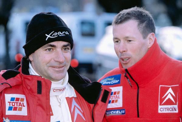 2003 FIA World Rally Championship. Monte Carlo, Monaco. Rd1.23-26 January 2003.Carlos Sainz with team mate Colin McRae (both Citroen).World Copyright: McKlein/LAT Photographicref: 35mm Image A14