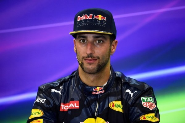 Daniel Ricciardo (AUS) Red Bull Racing in the Press Conference at Formula One World Championship, Rd18, United States Grand Prix, Race, Circuit of the Americas, Austin, Texas, USA, Sunday 23 October 2016.