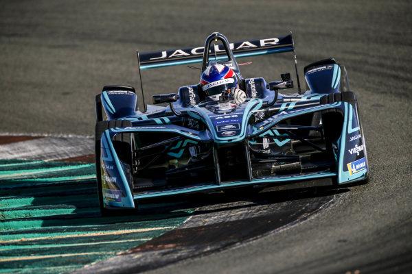 Sérgio Jimenez (BRA), Jaguar Brazil Racing, tests the Generation 1 Panasonic Jaguar Racing car
