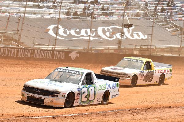 #20: Spencer Boyd, Young's Motorsports, Chevrolet Silverado EcoTwist, #45: Brett Moffitt, Niece Motorsports, Chevrolet Silverado Circle B Diecast
