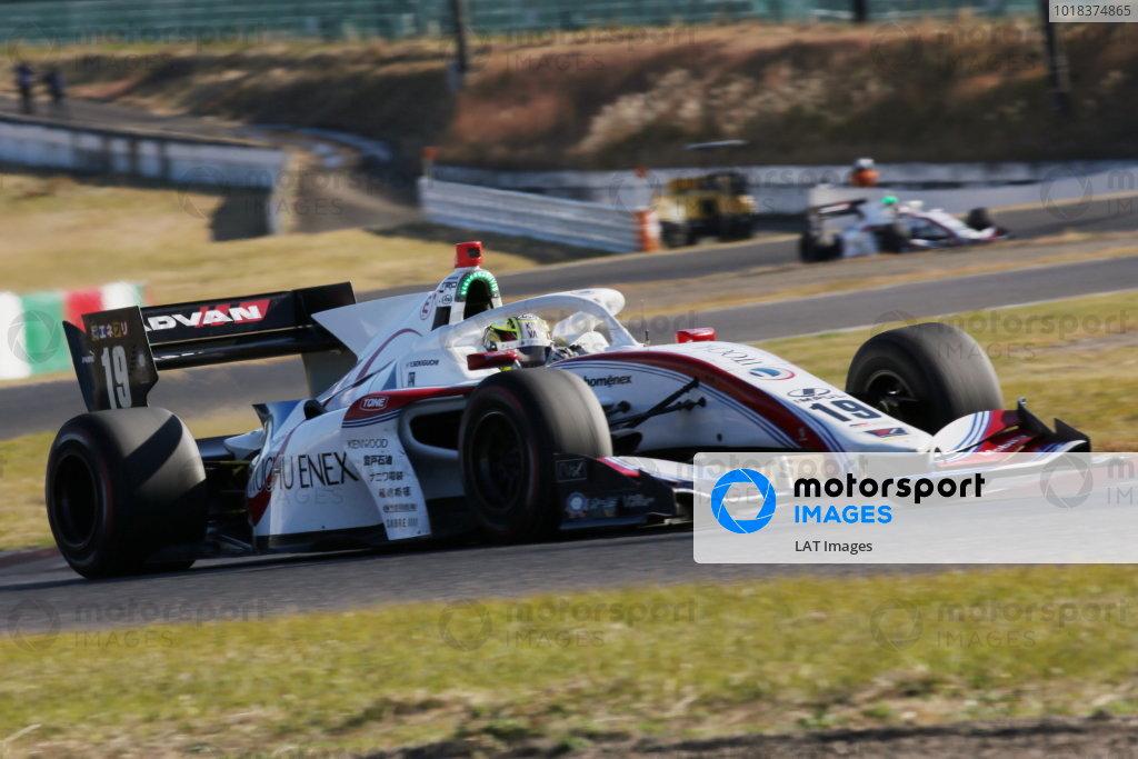 Yuhi Sekiguchi  ( #19 ITOCHU ENEX TEAM IMPUL), Dallara SF Toyota, 3rd in round six. Photo: Yukio Yoshimi