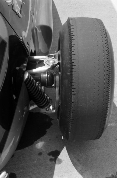 The rear wheel detail on a Smokey Yunick, Python Roadster Offy,