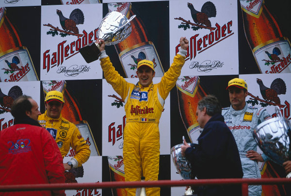 2002 DTM Championship, Zolder, Belgium. Rd 2, 4th-5th May 2002.Aiello wins from Abt and Schneider. Podium.World Copyright: Lawrence/LAT Photographic