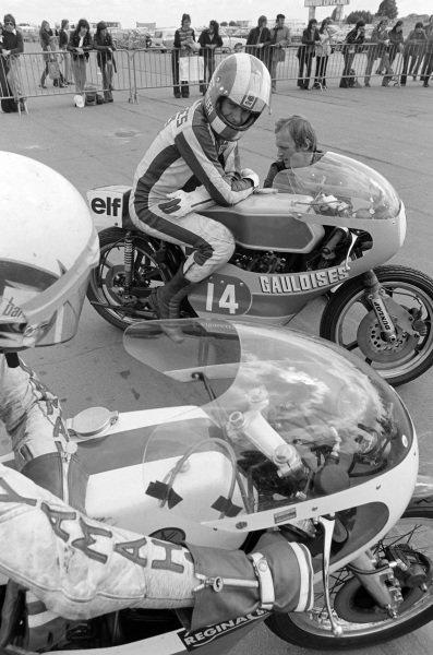 Olivier Chevallier, Yamaha, looks over to Bill Henderson, Yamaha.